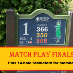 Match play finals Sunday 2nd September 2018